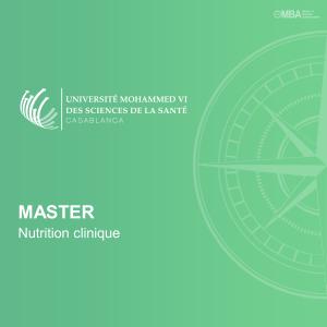 Master Nutrition clinique – UM6SS