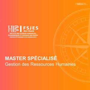 Master Spécialisé en Gestion des Ressources Humaines – FSJES Ain Chock Casablanca