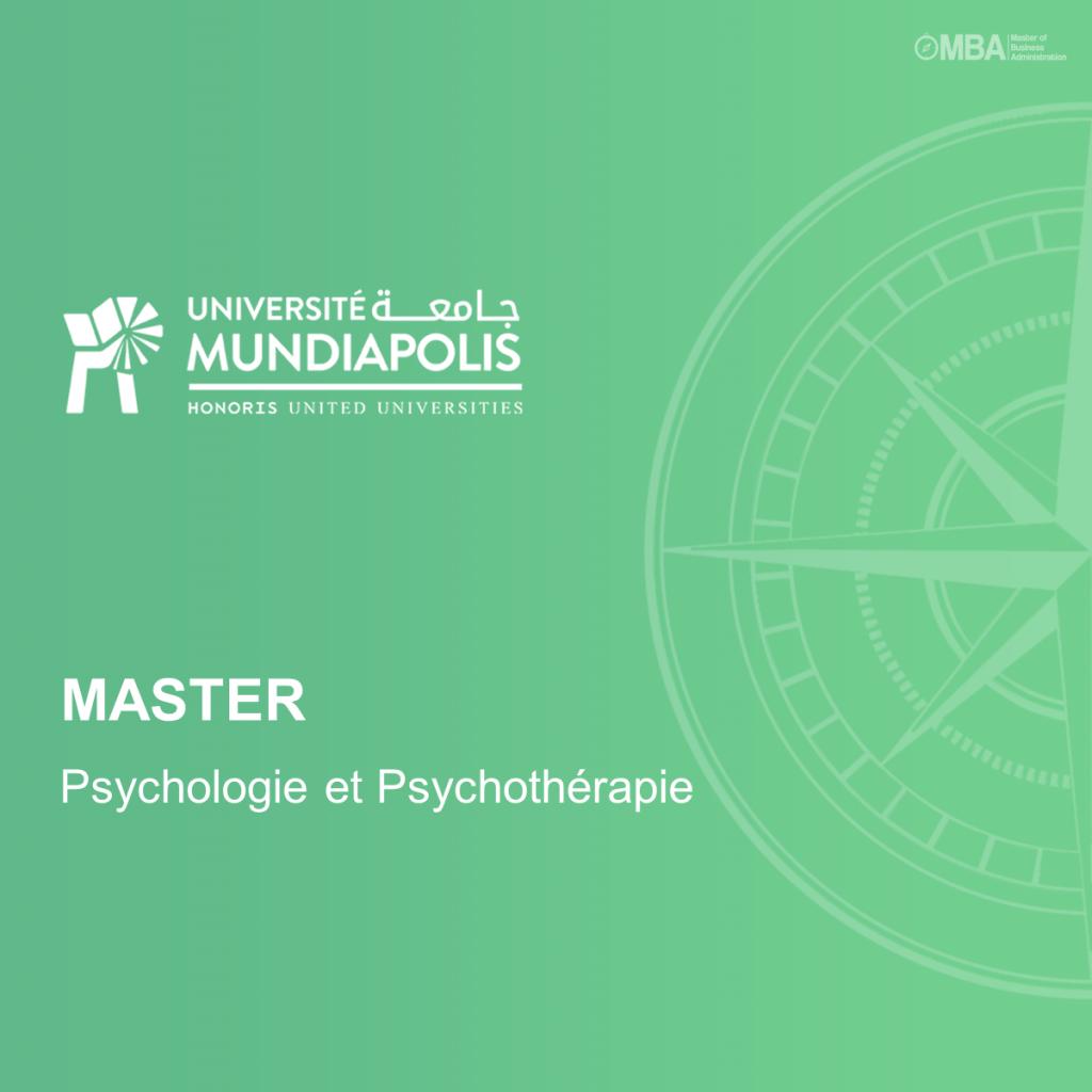 Master en Psychologie et Psychothérapie – Mundiapolis