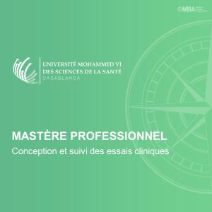 Mastère Professionnel en Conception et suivi des essais cliniques – UM6SS