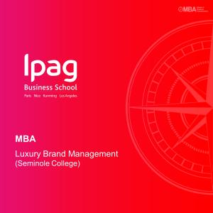 MBA Luxury Brand Management (Seminole College)