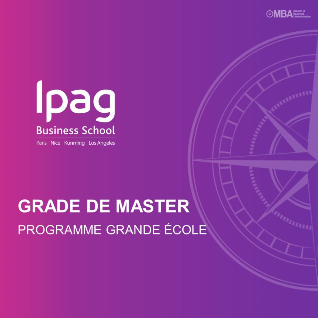 PROGRAMME GRANDE ÉCOLE GRADE DE MASTER