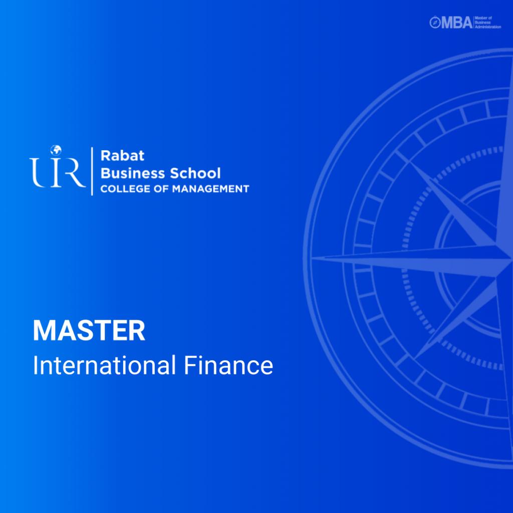 Master International Finance - Rabat Business School