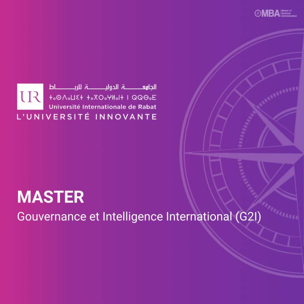 Master Gouvernance et Intelligence Internationale (G2i) - UIR