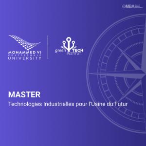 Master Technologies Industrielles pour l'Usine du Futur - GTI