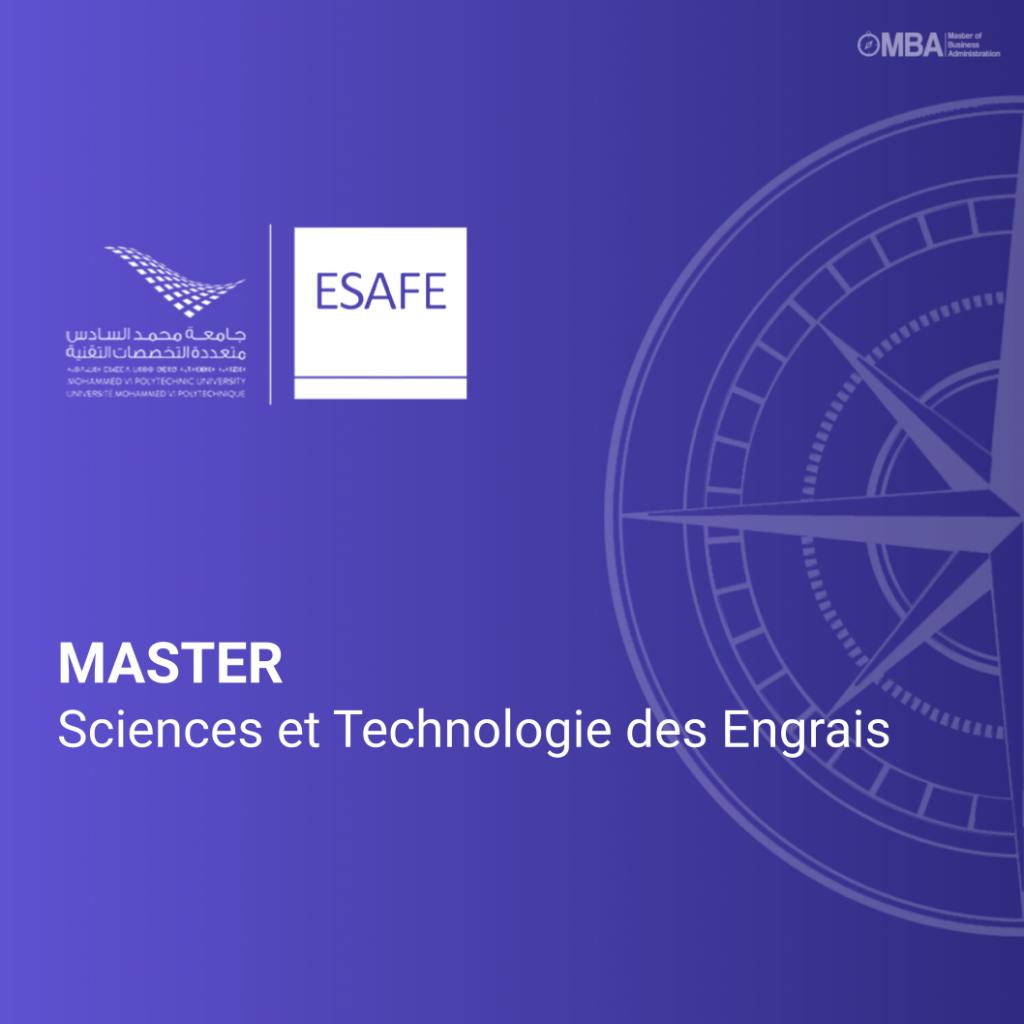 Master Sciences et Technologie des Engrais - ESAFE