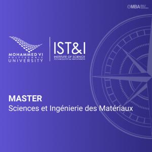 Master Sciences et Ingénierie des Matériaux- IST&I