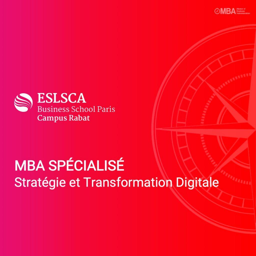 Mba Stratégie et Transformation Digitale eslsca