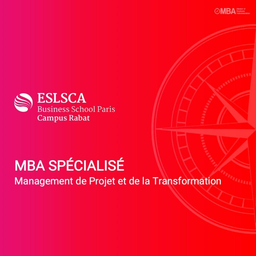 MBA spécialisé en management de projet et de la transformation ESLSCA